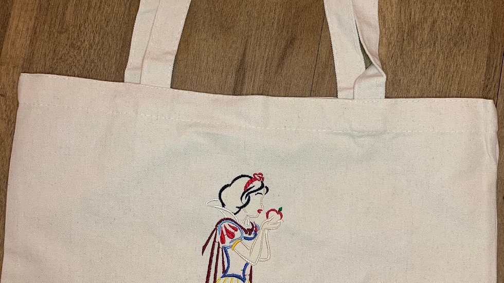 Snow White Large Canvas tote