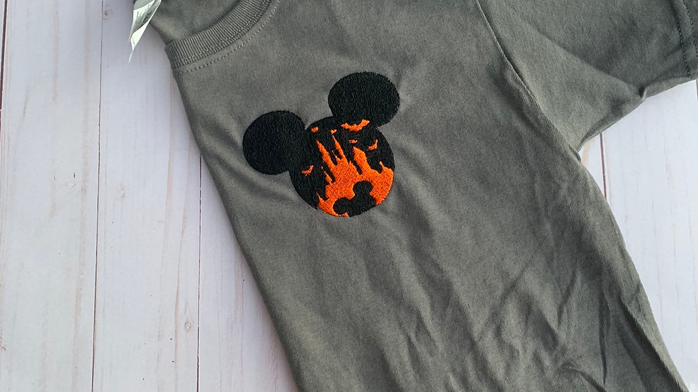 Mickey halloween party embroidered T-shirt