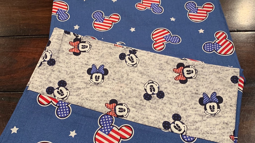 Americana Mickey head toss standard pillowcases - Free name embroider