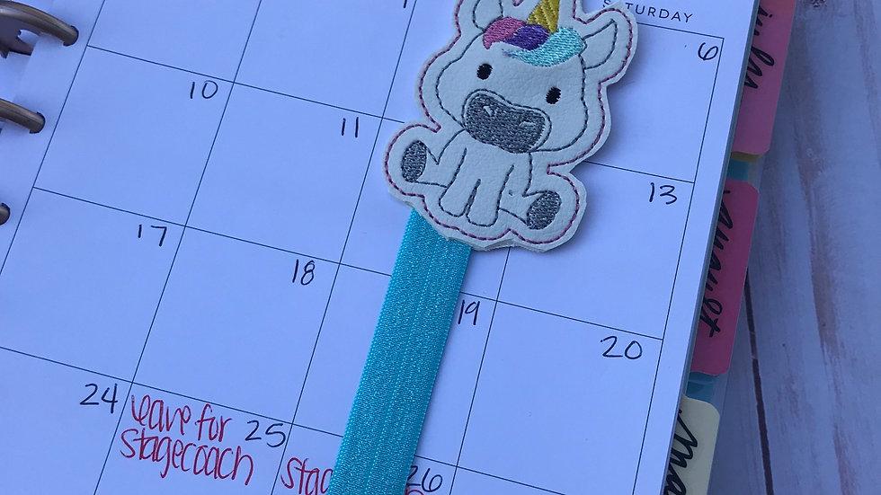 Cute unicorn planner band, bookmark