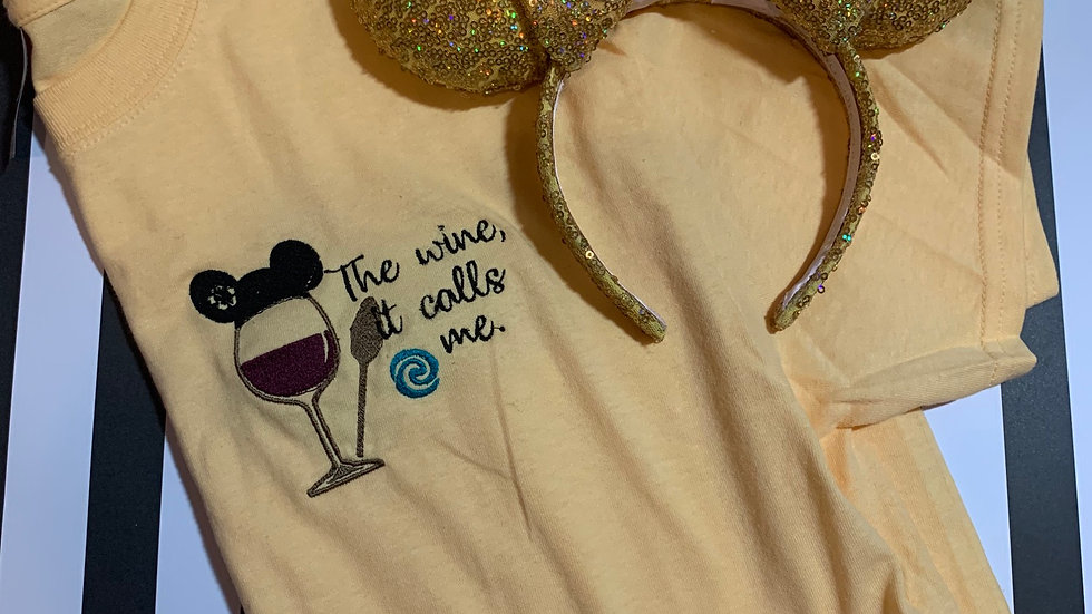 Moana Wine embroidered T-Shirt or tank top