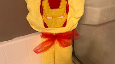 Iron man hooded towel -name embroidery option available