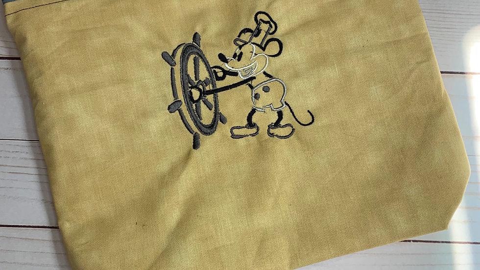 Steamboat Willie towels, makeup bag, tote bag, blank