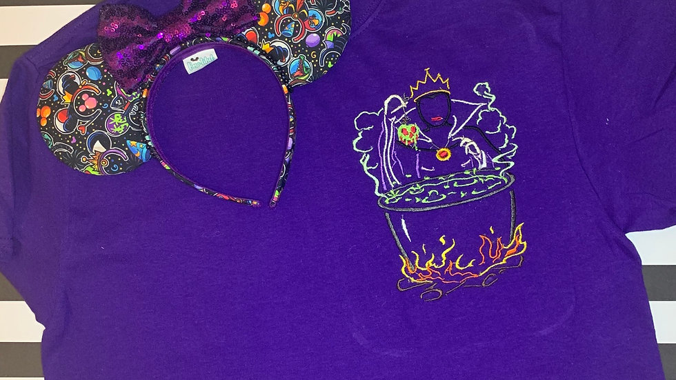 Evil Queen embroidered t-shirt or tank top