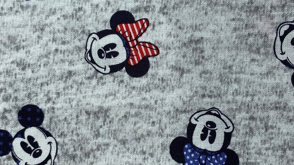 Minnie and Mickey on grey card wallet