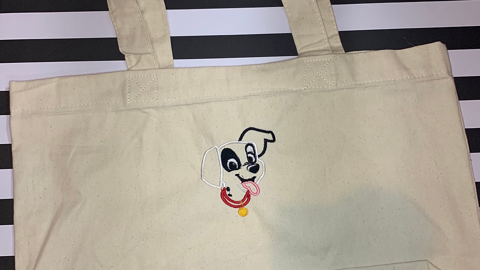 Dalmation Large Canvas tote