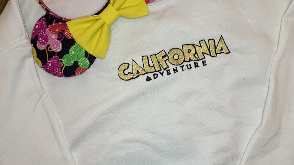 California Adventure embroidered hoodie, pullover, 1/4 Zip