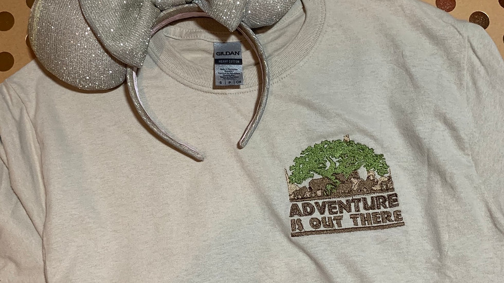Adventure is out there embroidered T-Shirt or tank top