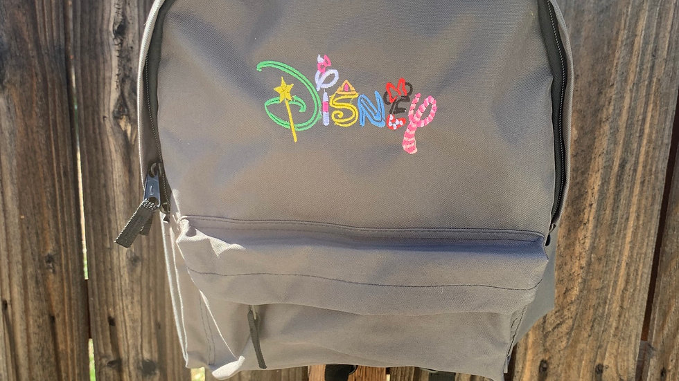 Fairy disney font embroidered backpack