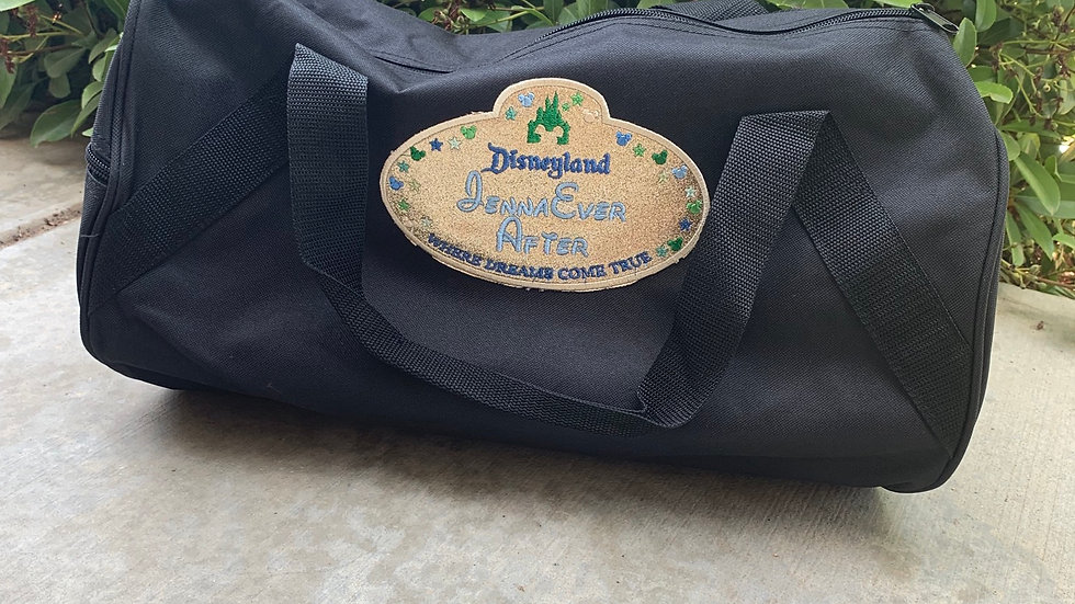 Disney cast member tag embroidered duffel bag
