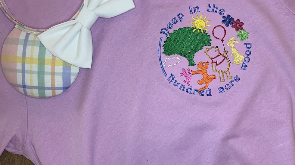 Deep in the Hundred Acre Woods - Pooh and Friends Embroidered Tee or Tank