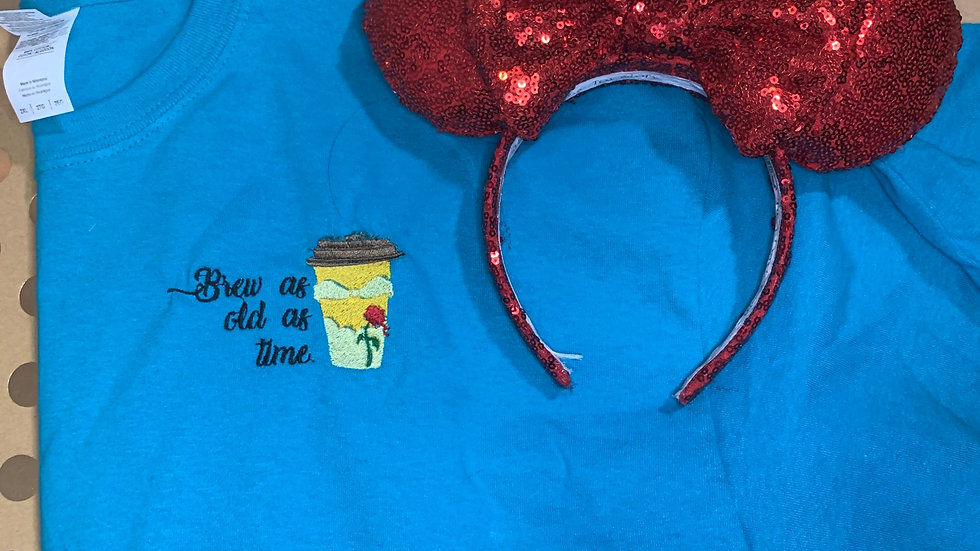 Belle Coffee embroidered T-Shirt or tank top