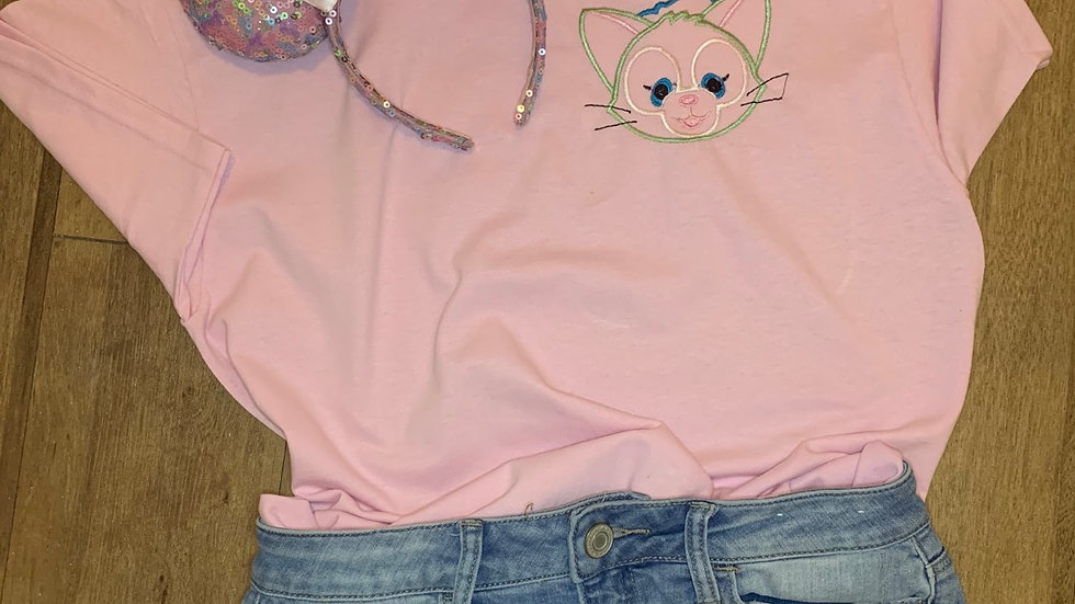 Gelatoni - Duffy and Freinds embroidered t-shirt or tan