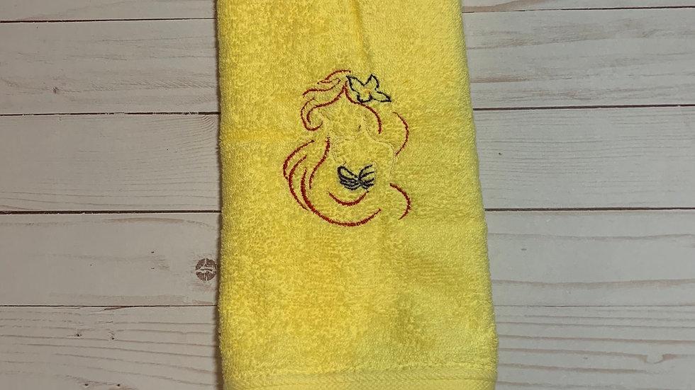 Ariel bust sketch embroidered towels, blanket, makeup bag or tote bag