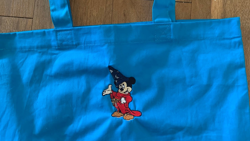 Sorcerer Mickey Large Canvas tote