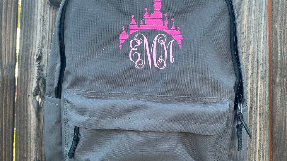 Castle Monogram embroidered backpack