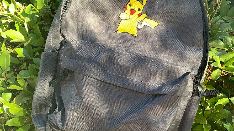 Pikachu pokemon embroidered backpack