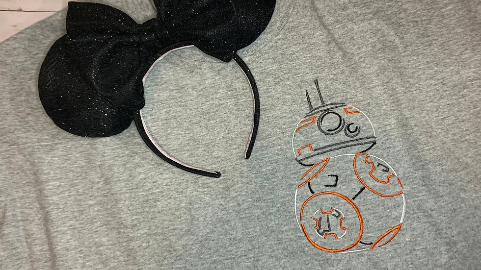 BB8 Driod Sketch embroidered t-shirt or tank top