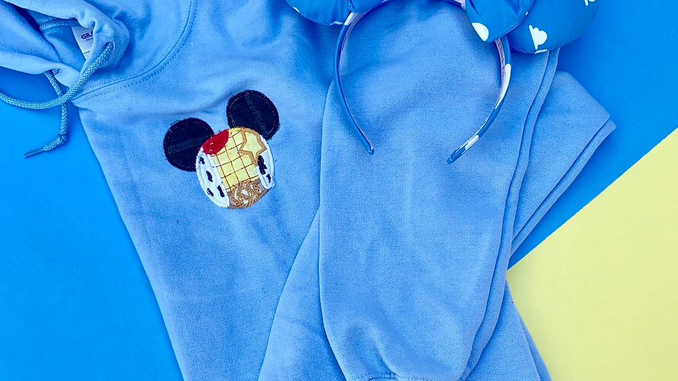 Woody Mouse embroidered hoodie, pullover, 1/4 zip
