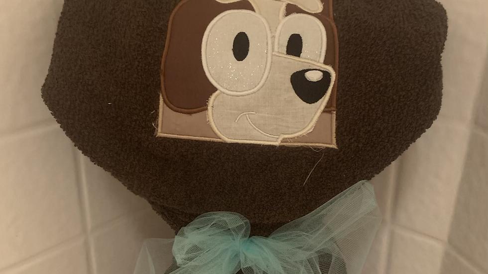 Bingo Dog Hooded Towel