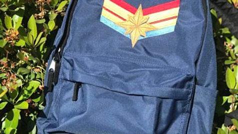 Captain Marvel Logo Embroidered Backpack