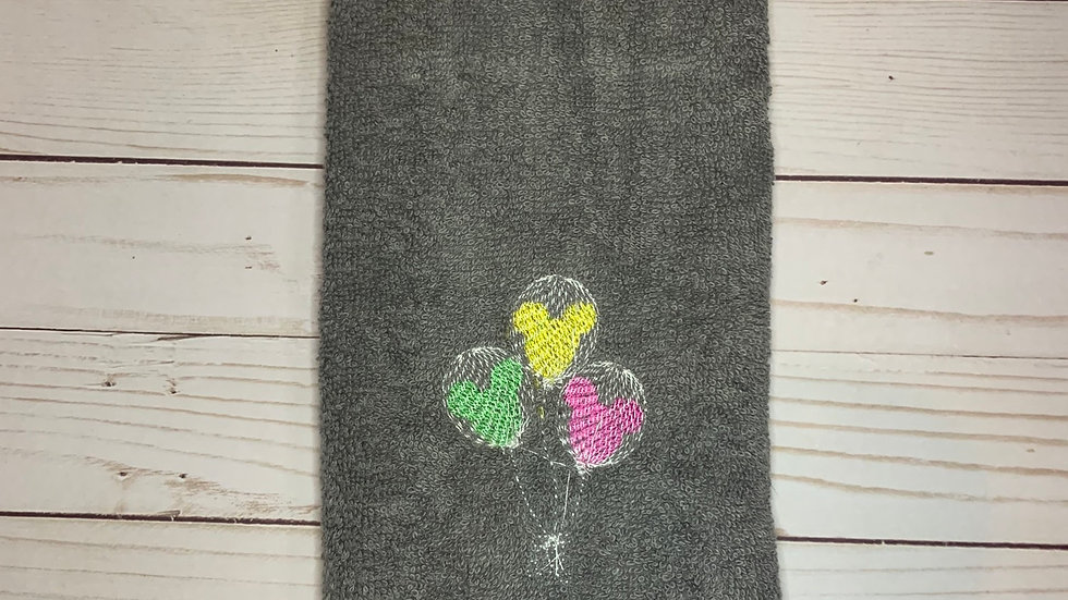 Mickey Balloons embroidered towels, blanket, make