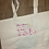 Thumbnail: Lottie Quote Large Canvas tote