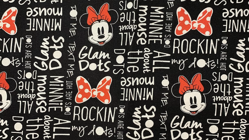 Glam Dots Minnie Mouse Makeup bag or boxy bag