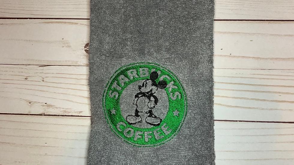 Starbucks Mouse embroidered towels, blanket, makeup bag
