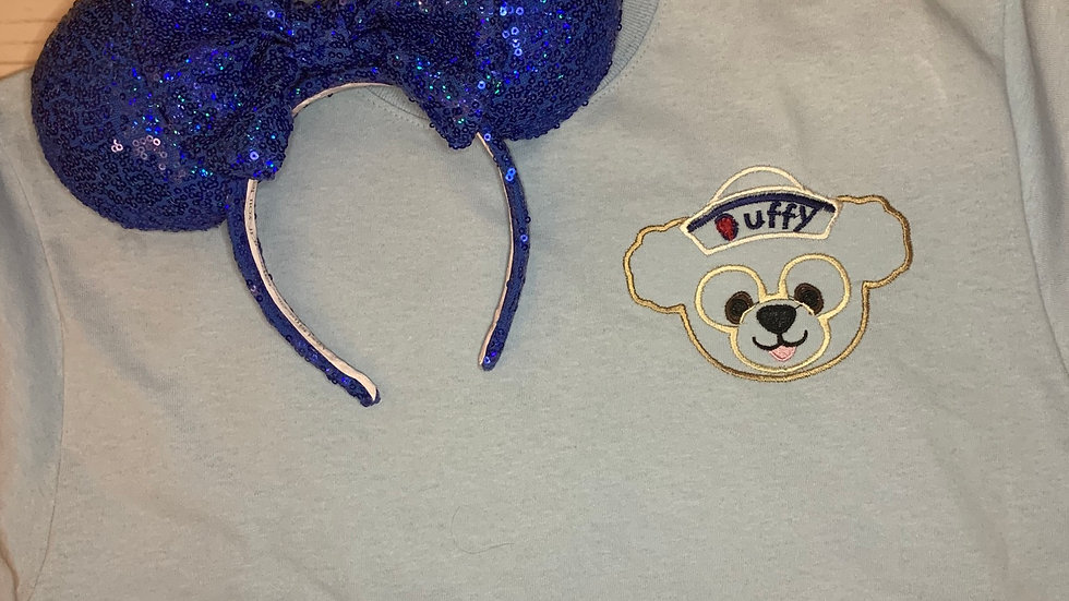 Duffy Bear  embroidered t-shirt or tan