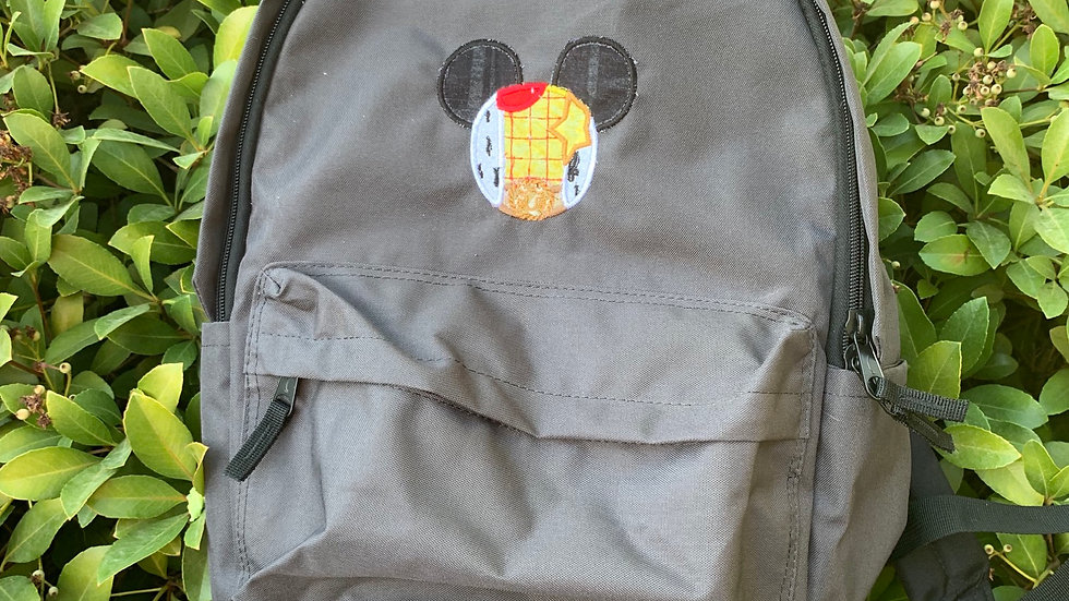 Woody Mouse embroidered backpack