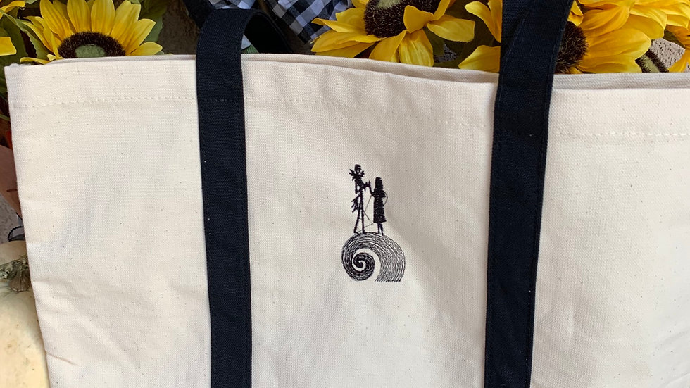 Jack and sally mountain pocket tote