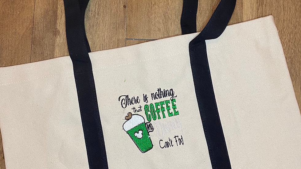 Nothing Disney and Coffee can't fix pocket tote