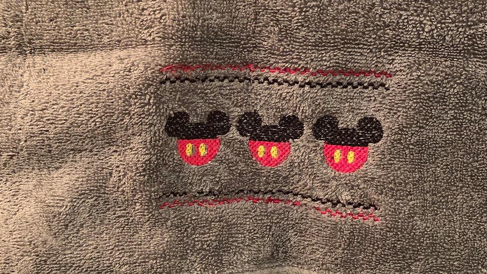 Mickey smock embroidered makeup bag, tote bag, blanket, towels