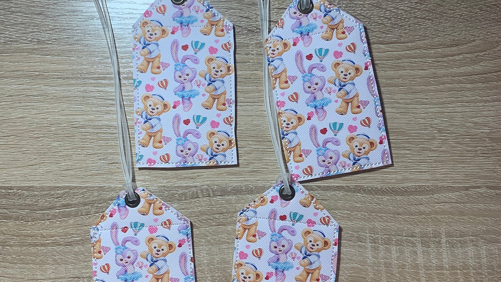 Duffy and Stella Lou embroidered luggage tag