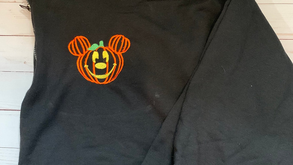 Mickey pumpkin embroidered hoodie, pullover, 1/4 zip
