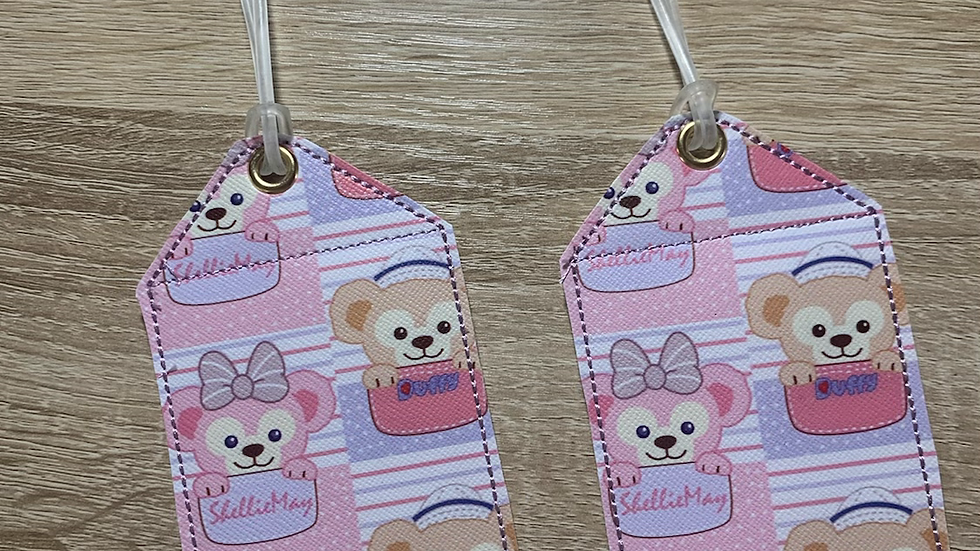 Duffy and Shellie embroidered luggage tag