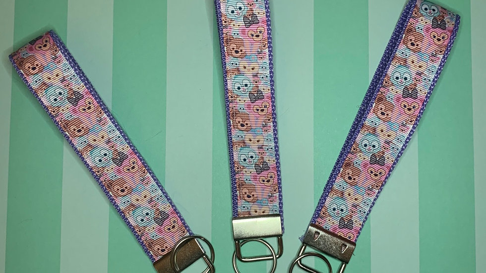 Stacked Duffy and Friends KeyFob Keychain