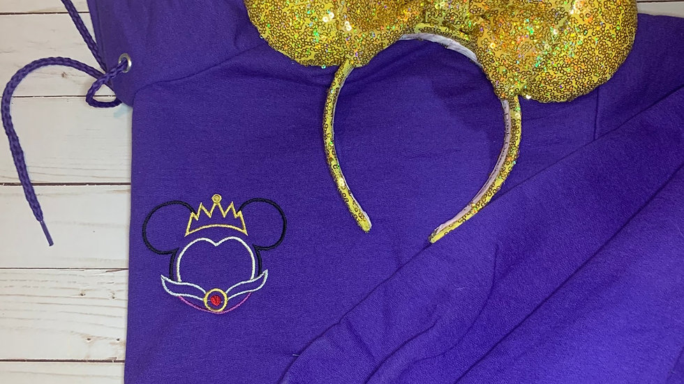 Evil Queen Mouse embroidered hoodie, pullover, 1/4 zip