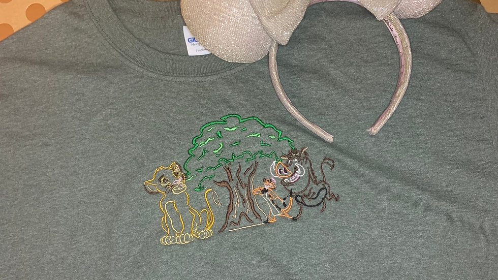 Hakuna Matata embroidered t-shirt or tank top