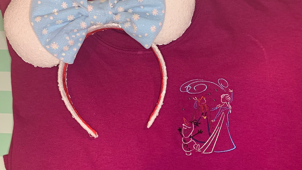 Anna, Elsa and Olaf embroidered T-Shirt or tank top