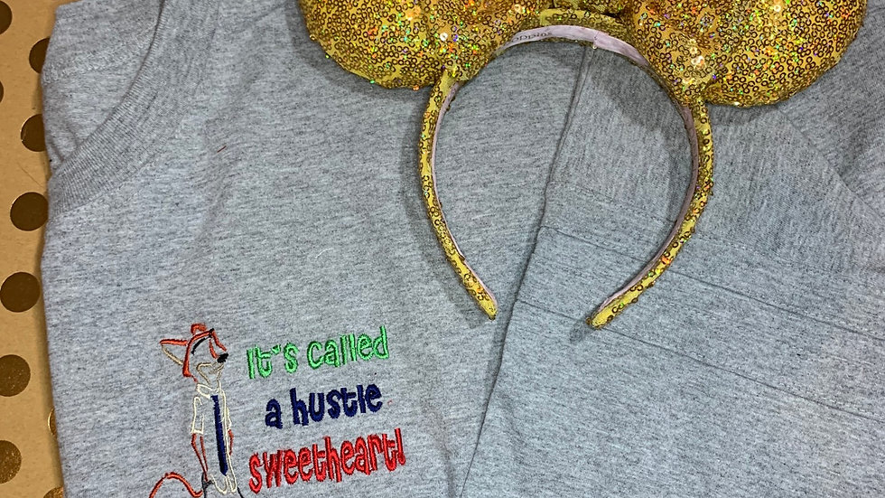 Its called a hustle sweetheart embroidered spirit jersey