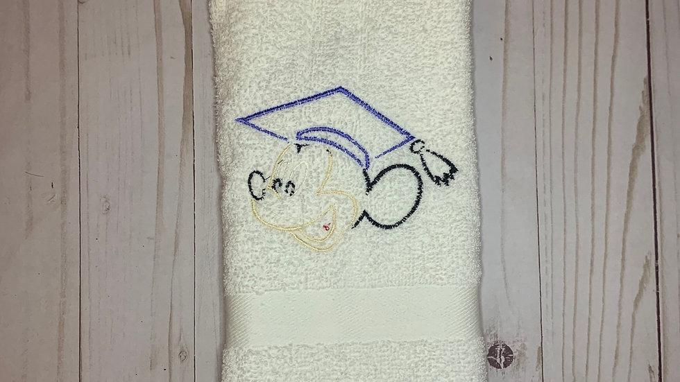 Mickey Grad towels, makeup bag, tote