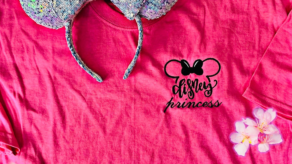Disney Princess embroidered t-shirt or tank top