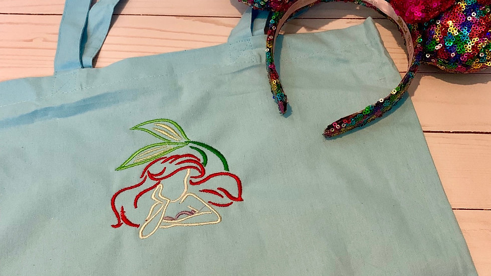 Ariel sketch market tote / trick or treat bag