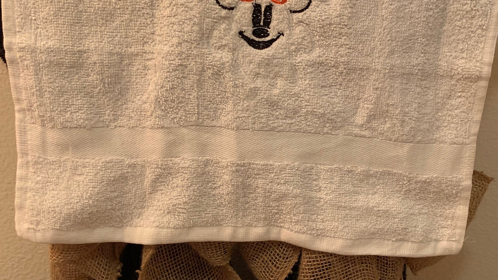 Minnie Mouse Ghost embroidered towels, blanket, makeup bag or tote