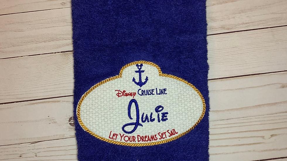 Disney Cruise Line towels, makeup bag, tote