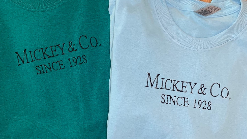 Mickey And Co. - Tiffany inspired embroidered t-shirt or tank