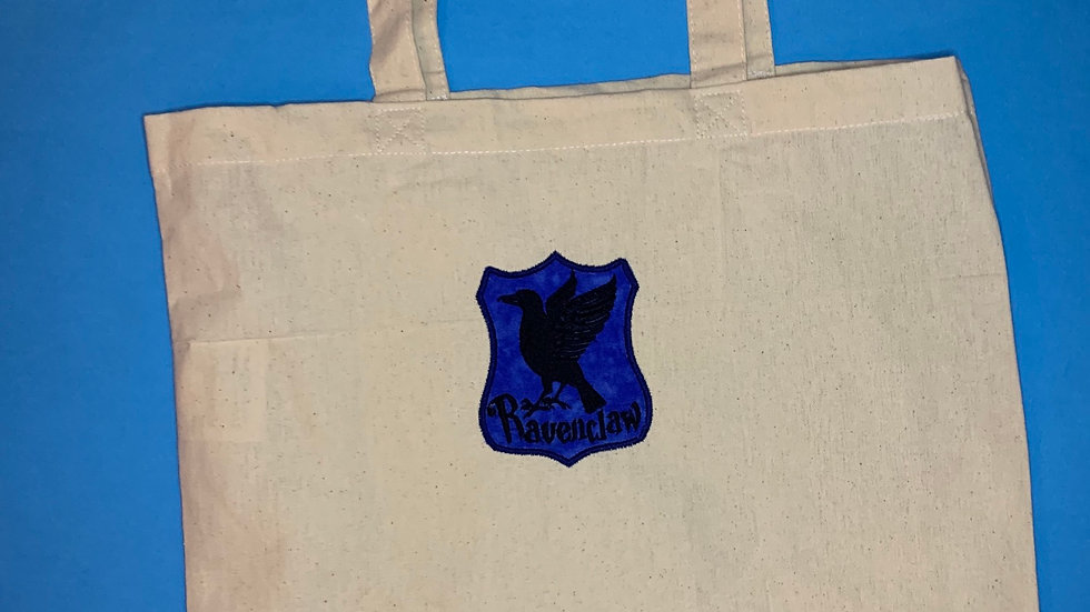 Ravenclaw House Crest embroidered market tote