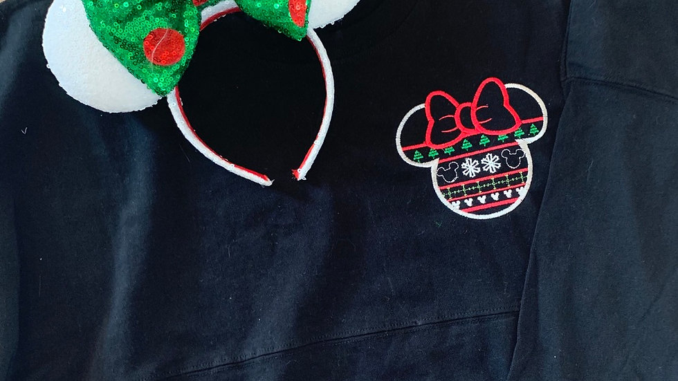 Minnie Ugly Sweater embroidered spirit jersey